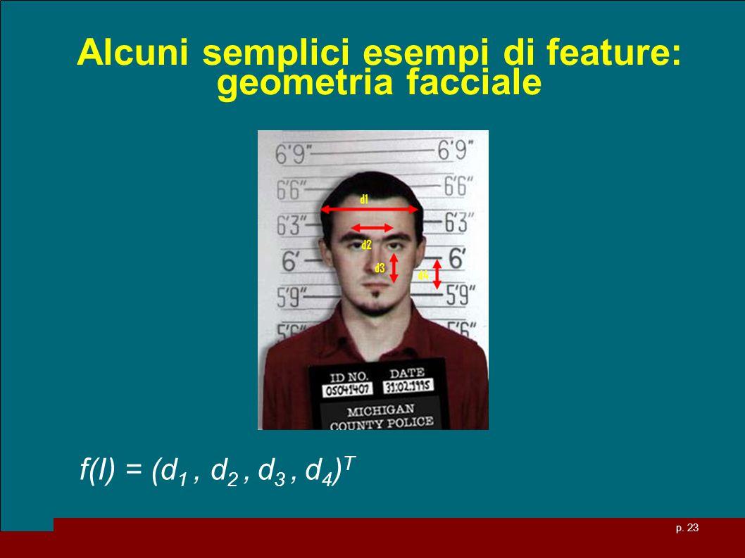 Alcuni semplici esempi di feature: geometria facciale