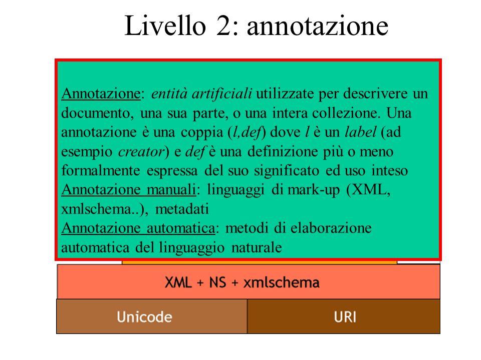 Livello 2: annotazione