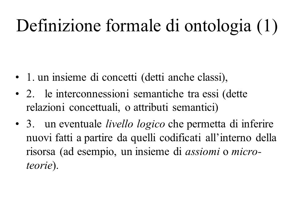 Definizione formale di ontologia (1)