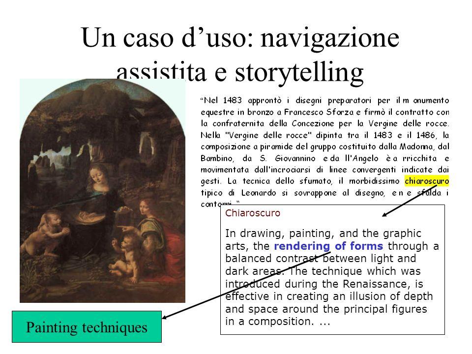 Un caso d'uso: navigazione assistita e storytelling