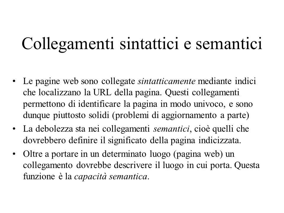 Collegamenti sintattici e semantici