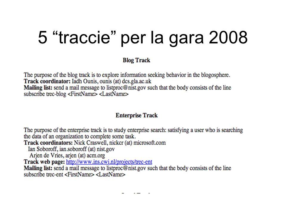 5 traccie per la gara 2008