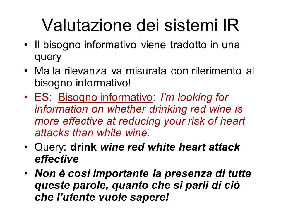 Valutazione dei sistemi IR