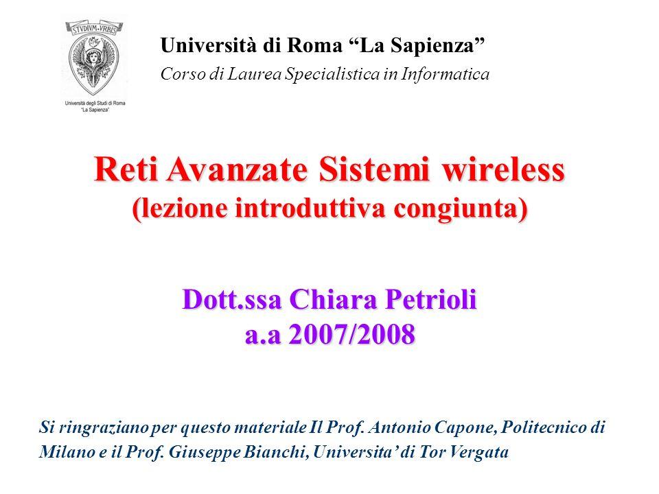 Dott.ssa Chiara Petrioli a.a 2007/2008