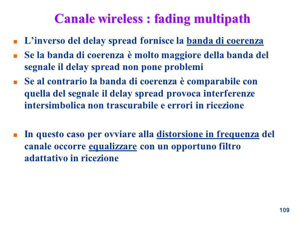 Canale wireless : fading multipath