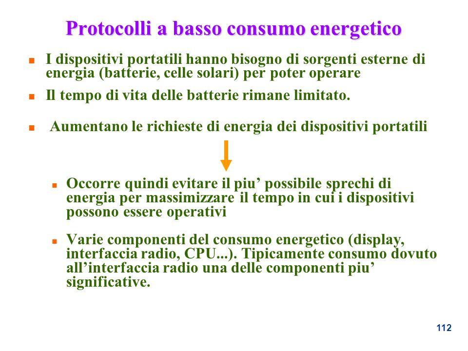 Protocolli a basso consumo energetico