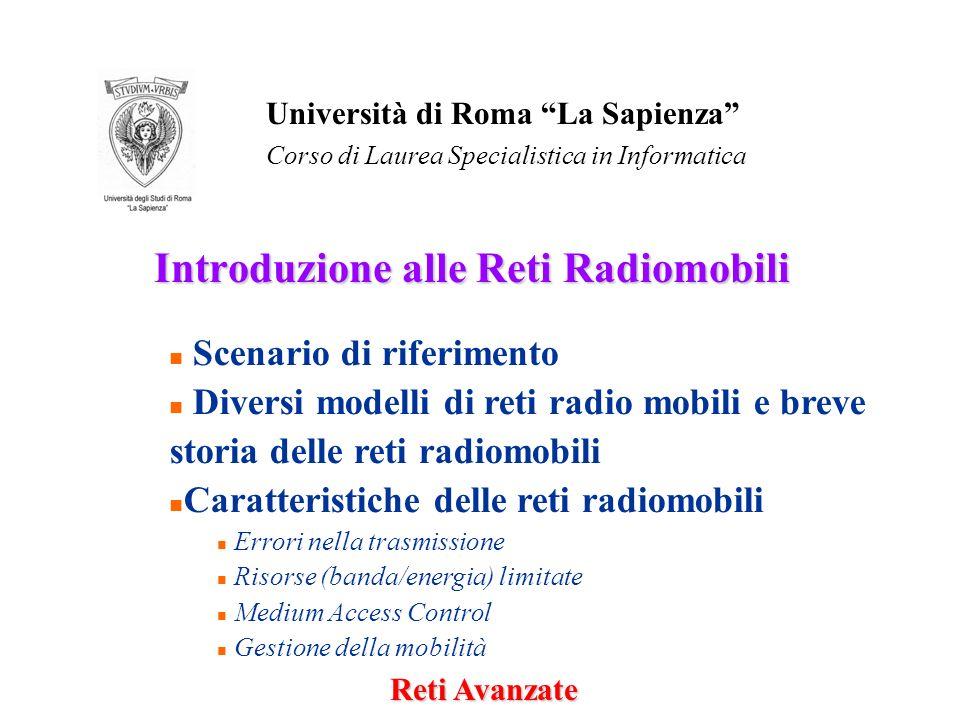 Introduzione alle Reti Radiomobili