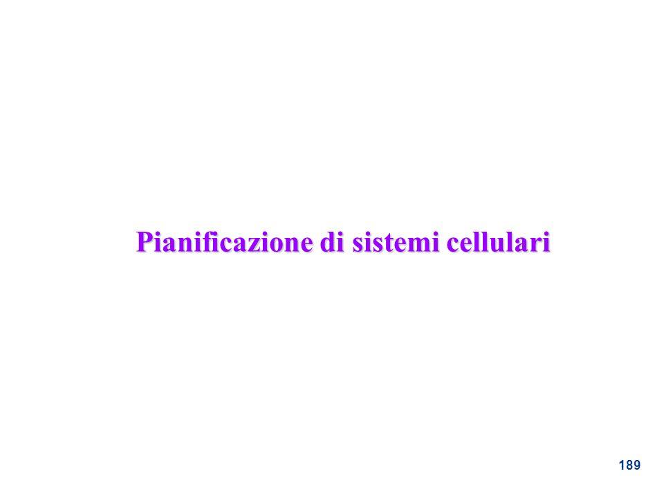 Pianificazione di sistemi cellulari