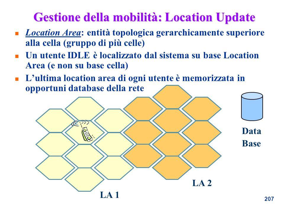 Gestione della mobilità: Location Update