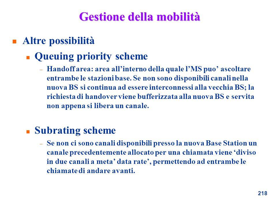 Gestione della mobilità
