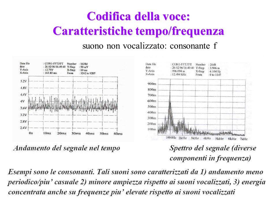 Codifica della voce: Caratteristiche tempo/frequenza