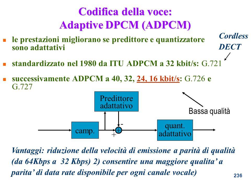Codifica della voce: Adaptive DPCM (ADPCM)