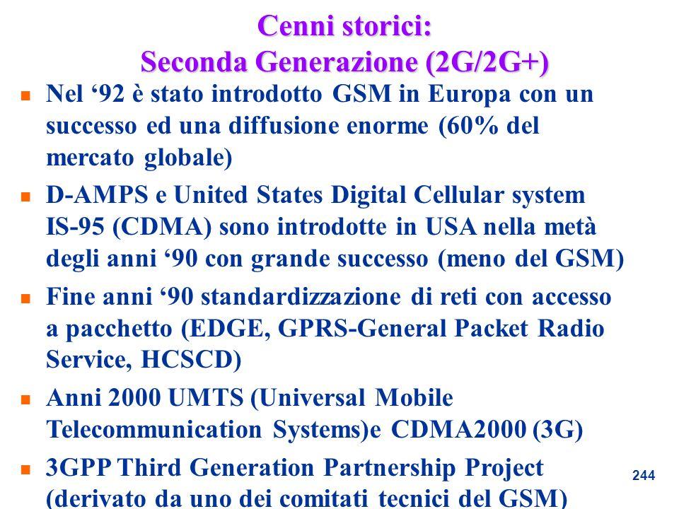 Cenni storici: Seconda Generazione (2G/2G+)