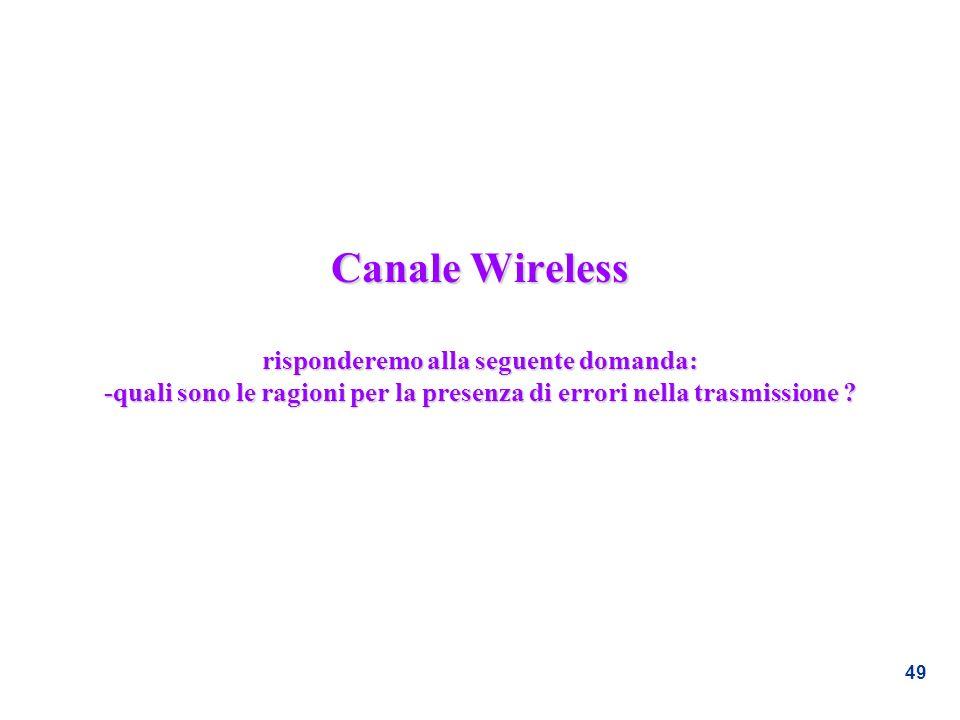 Canale Wireless risponderemo alla seguente domanda: -quali sono le ragioni per la presenza di errori nella trasmissione