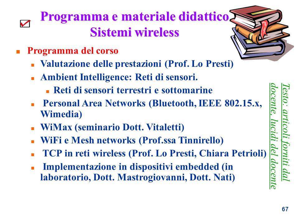 Programma e materiale didattico