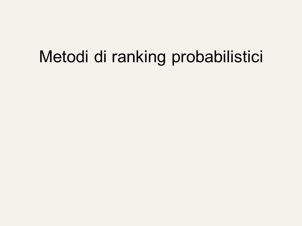 Metodi di ranking probabilistici