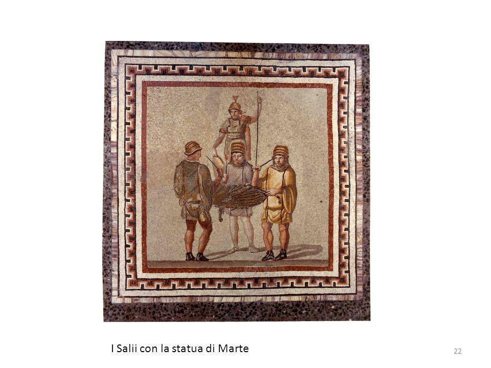 I Salii con la statua di Marte