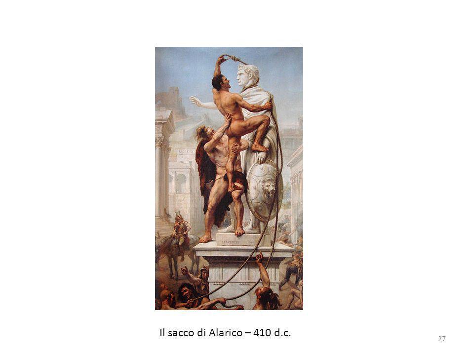 Il sacco di Alarico – 410 d.c.