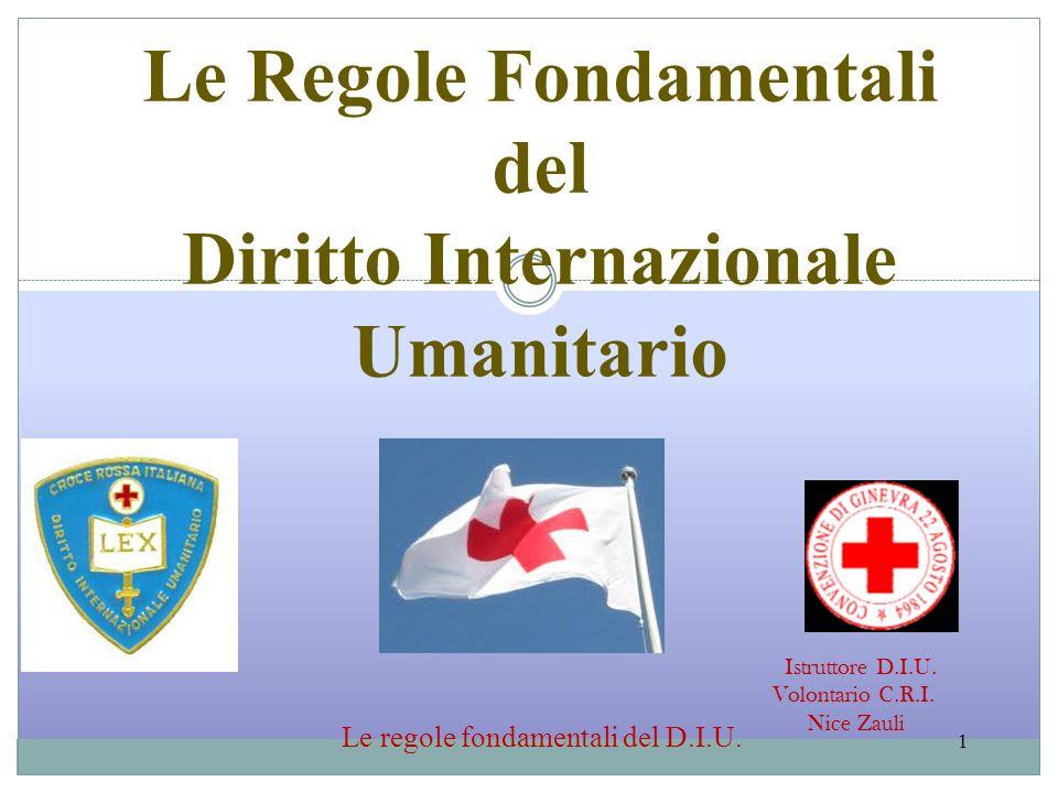 Le Regole Fondamentali Diritto Internazionale Umanitario