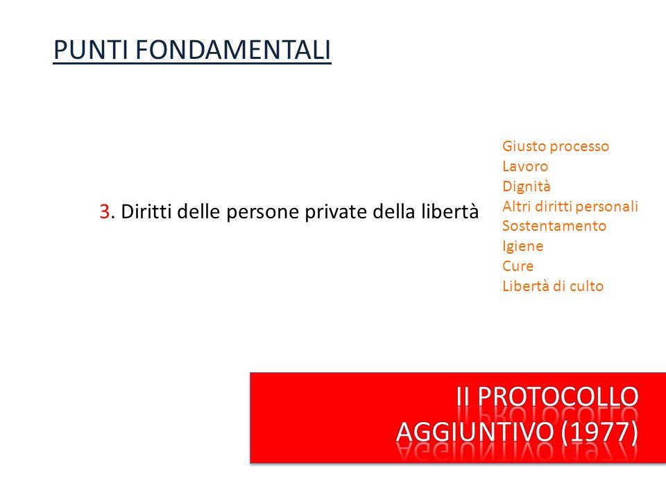 PUNTI FONDAMENTALI II PROTOCOLLO AGGIUNTIVO (1977)