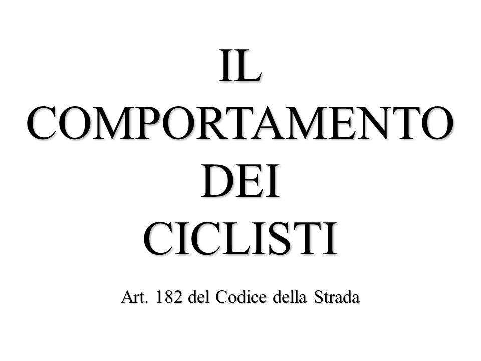 Art. 182 del Codice della Strada