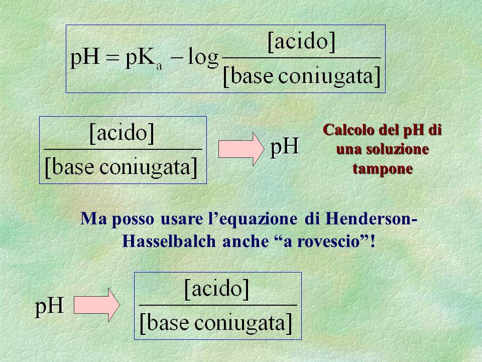 Calcolo del pH di una soluzione tampone