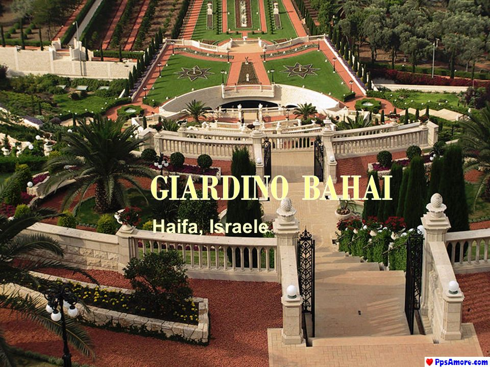GIARDINO BAHAI Haifa, Israele