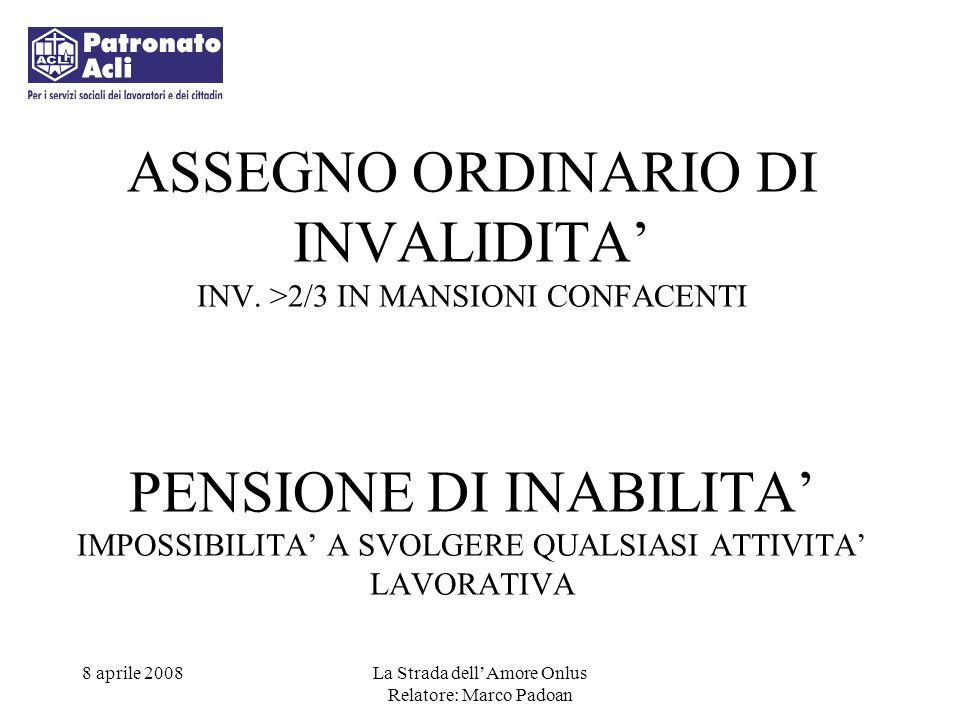 ASSEGNO ORDINARIO DI INVALIDITA' INV
