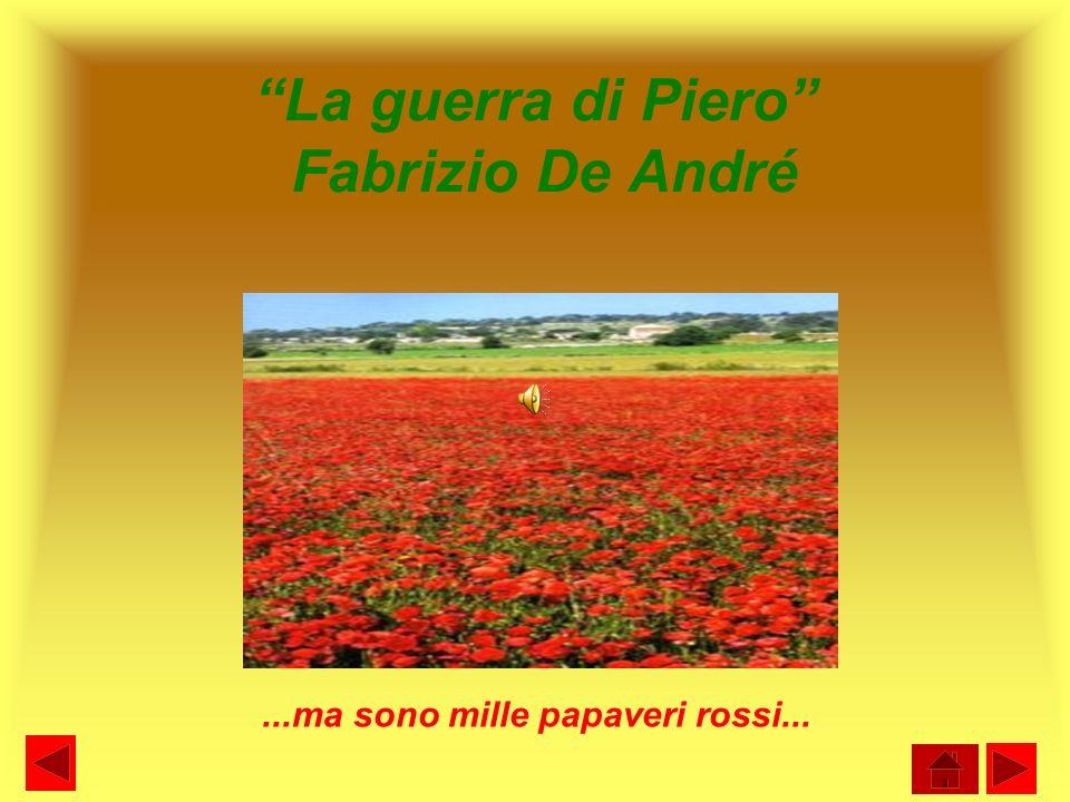 La guerra di Piero Fabrizio De André