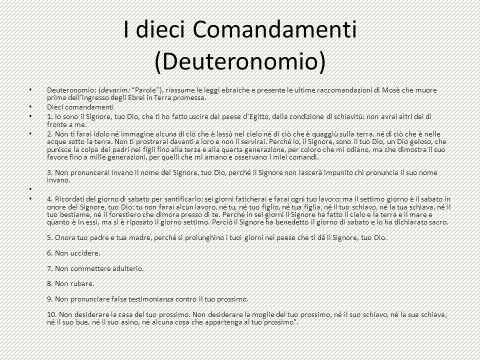 I dieci Comandamenti (Deuteronomio)