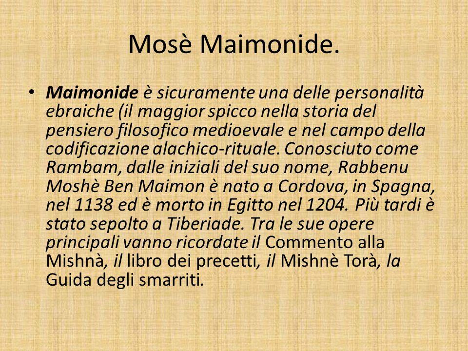 Mosè Maimonide.