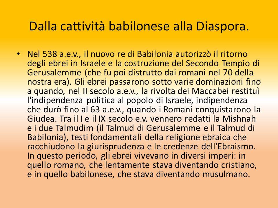 Dalla cattività babilonese alla Diaspora.