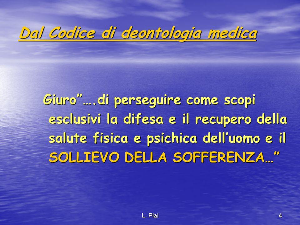 Dal Codice di deontologia medica