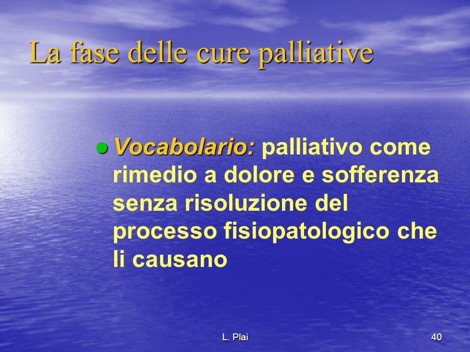 La fase delle cure palliative
