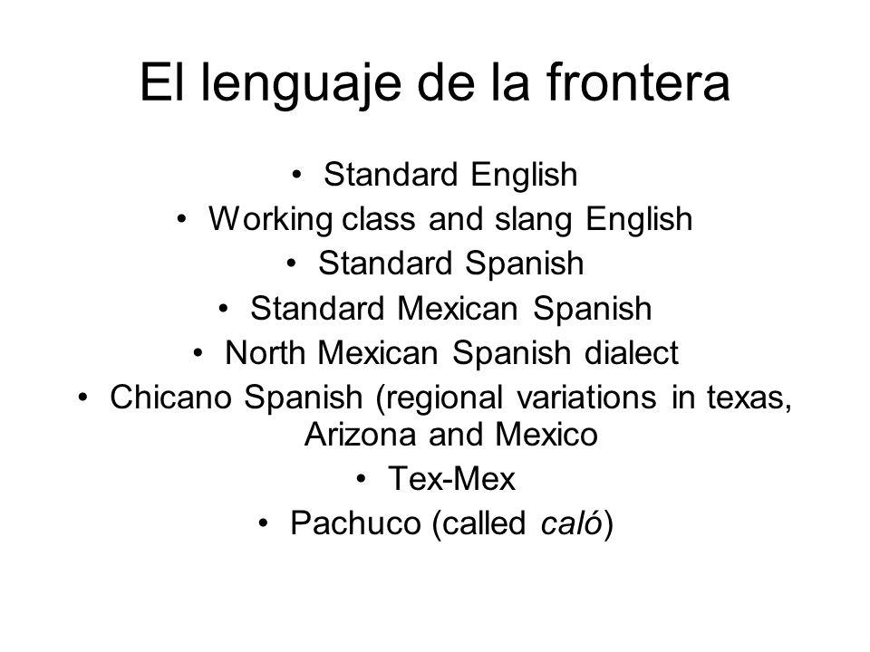 El lenguaje de la frontera