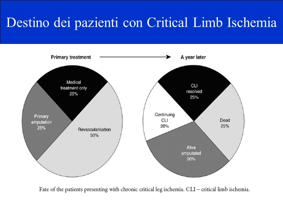 Destino dei pazienti con Critical Limb Ischemia