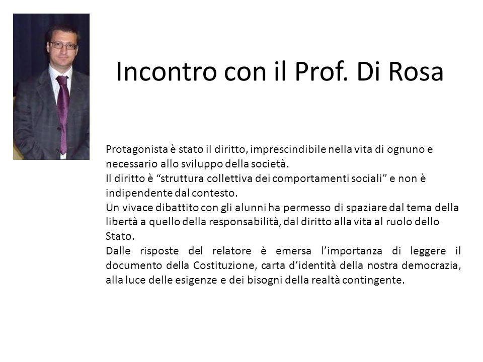 Incontro con il Prof. Di Rosa