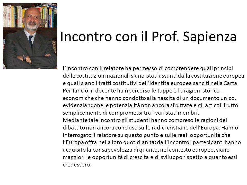 Incontro con il Prof. Sapienza