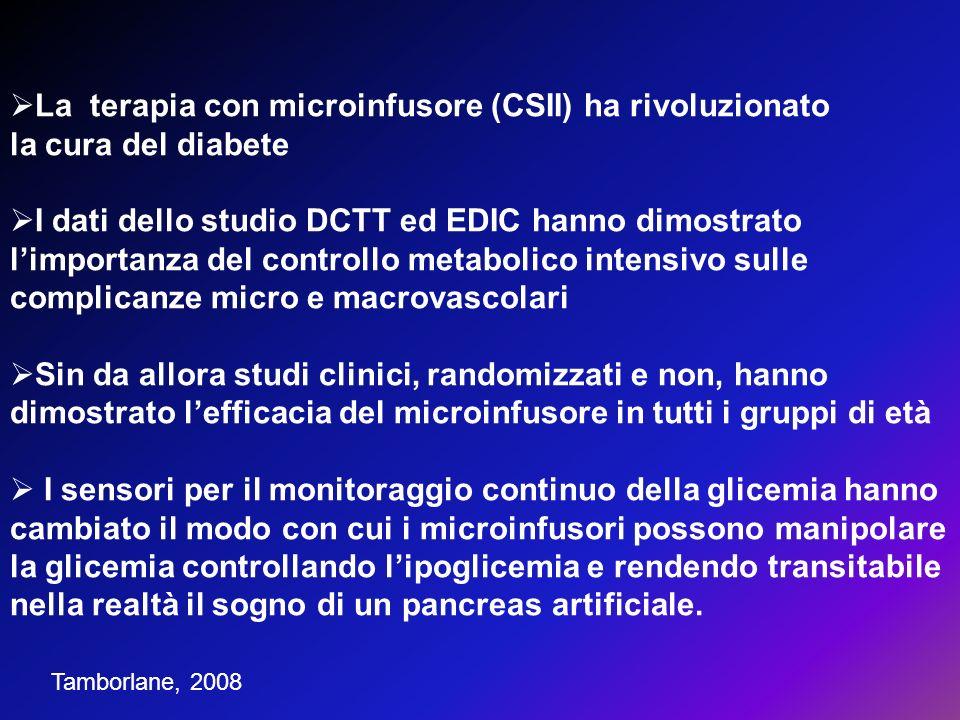 La terapia con microinfusore (CSII) ha rivoluzionato