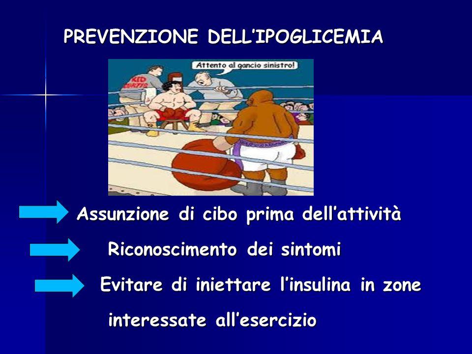PREVENZIONE DELL'IPOGLICEMIA