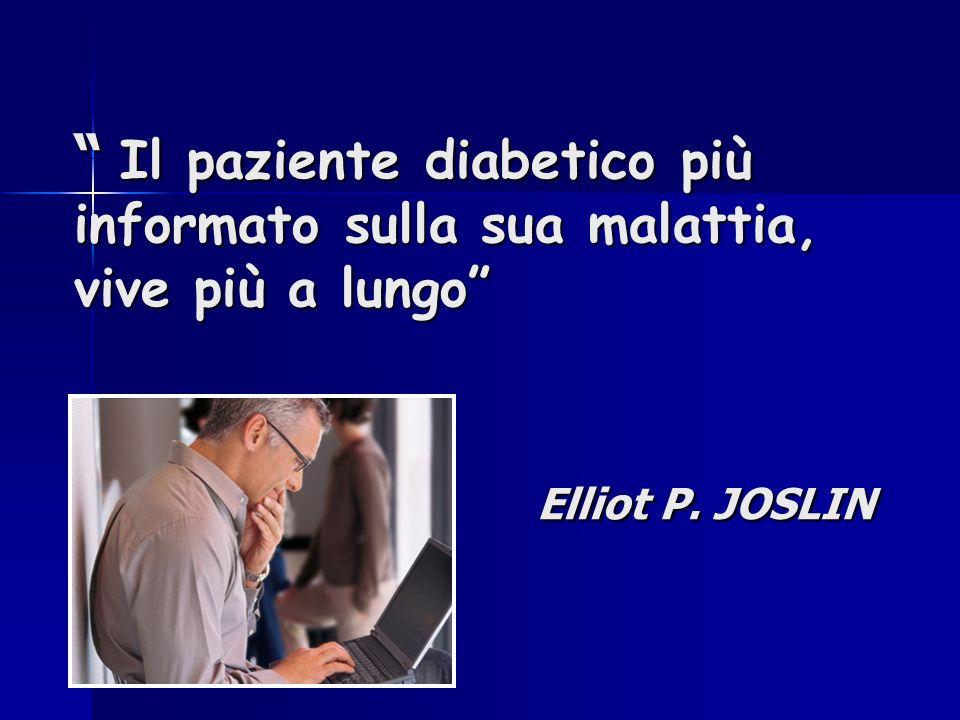 Il paziente diabetico più informato sulla sua malattia,