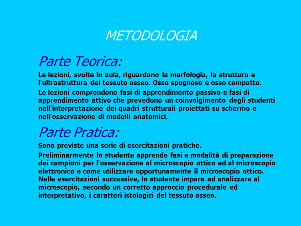 METODOLOGIA Parte Teorica: Parte Pratica: