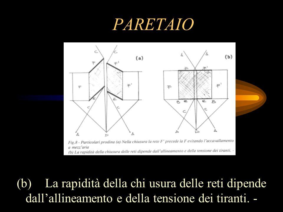 PARETAIO (b) La rapidità della chi usura delle reti dipende dall'allineamento e della tensione dei tiranti.