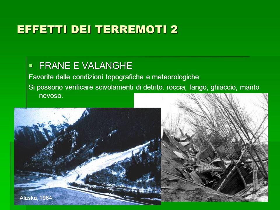 EFFETTI DEI TERREMOTI 2 FRANE E VALANGHE