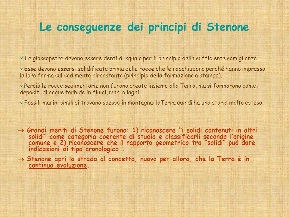 Le conseguenze dei principi di Stenone