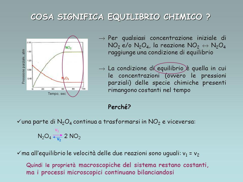 COSA SIGNIFICA EQUILIBRIO CHIMICO