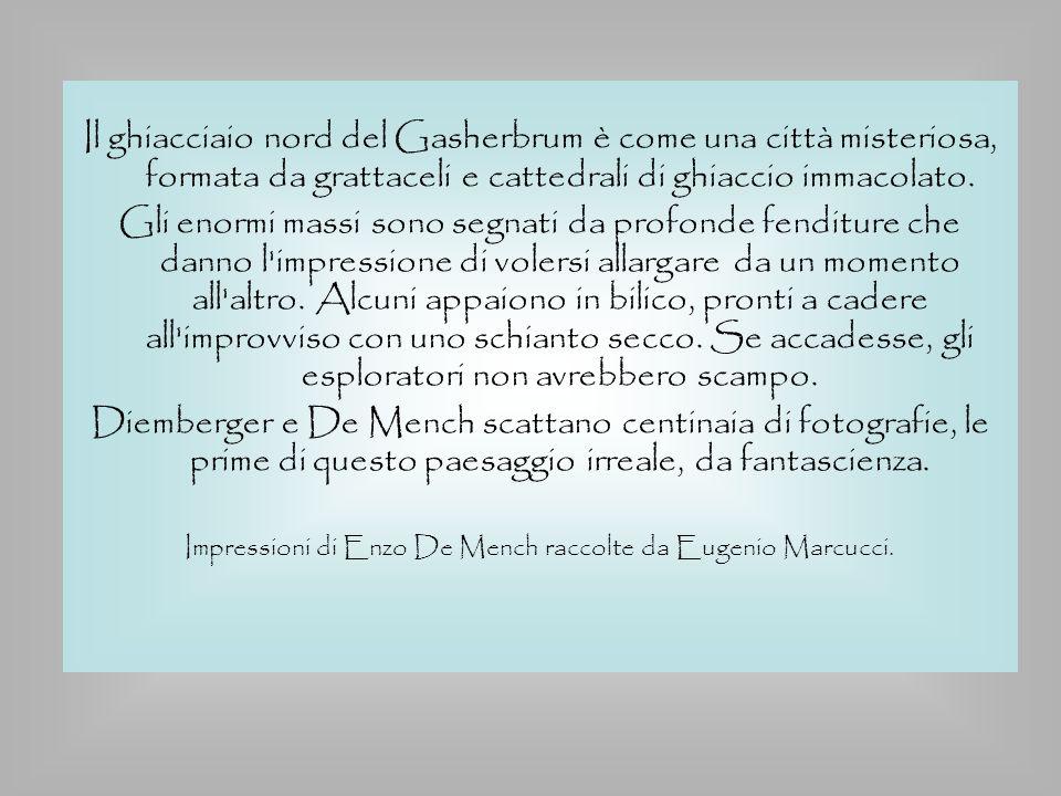 Impressioni di Enzo De Mench raccolte da Eugenio Marcucci.