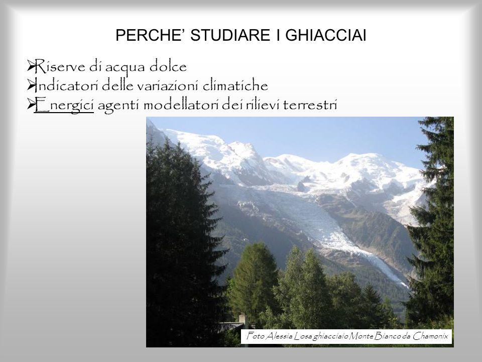 PERCHE' STUDIARE I GHIACCIAI