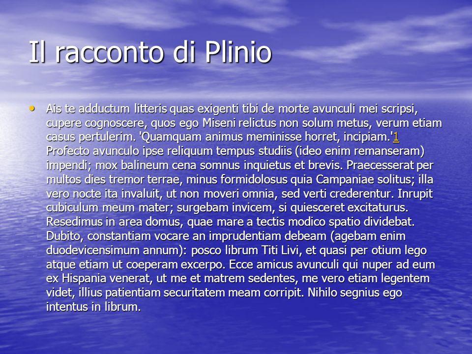 Il racconto di Plinio