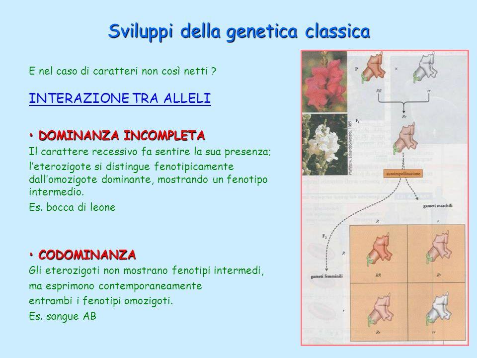 Sviluppi della genetica classica